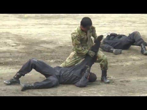 陸上自衛隊 第1師団隷下 格闘指導官による 格闘戦の訓練展示