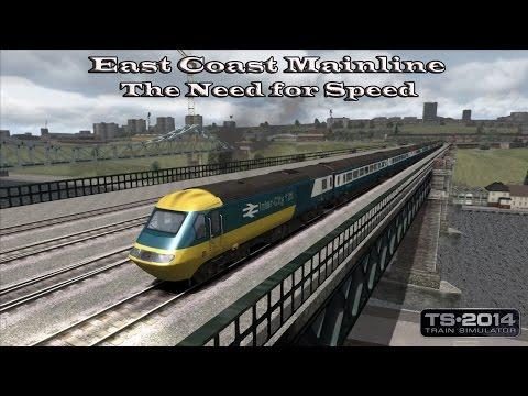 Train Simulator 2014 - Standard Scenario - East Coast Mainline - The Need for Speed Part 1  