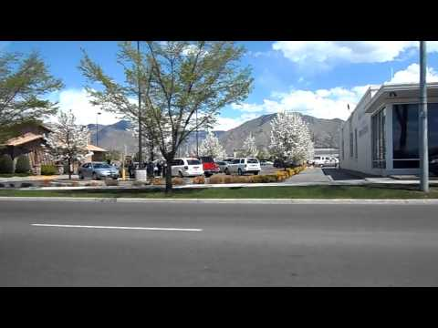 Drive in Logan,Utah on a sunny day