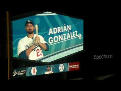 Los Angeles Dodgers starting lineups at Dodger Stadium 9/23/16