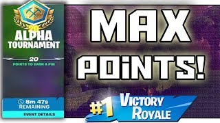 How to get max points in Fortnite tournaments! - Fortnite Practice Tournament Gameplay