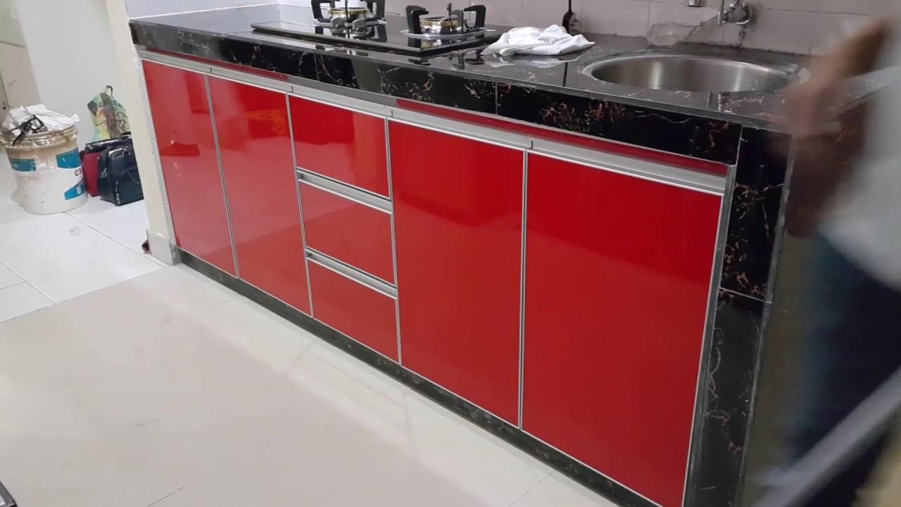 0812 292 6741 Jual Kitchen Set Aluminium Kabinet Dapur Murah Kitchen Set Apartemen Studio By Kitchen Set Minimalis