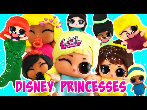 LOL Surprise Dolls Lil Sisters Disney Princess Play-Doh Dress Up Contest Part 1 | LOL Dolls Families