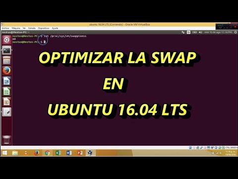 Optimizar la memoria Swap en ubuntu 16.04 LTS