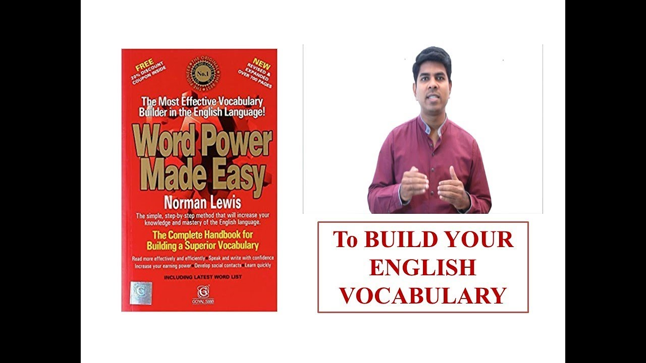 English Vocabulary Improvement Book | To Clear CAT, MAT, GMAT, GRE, TOEFL  Exams | Book Introduction