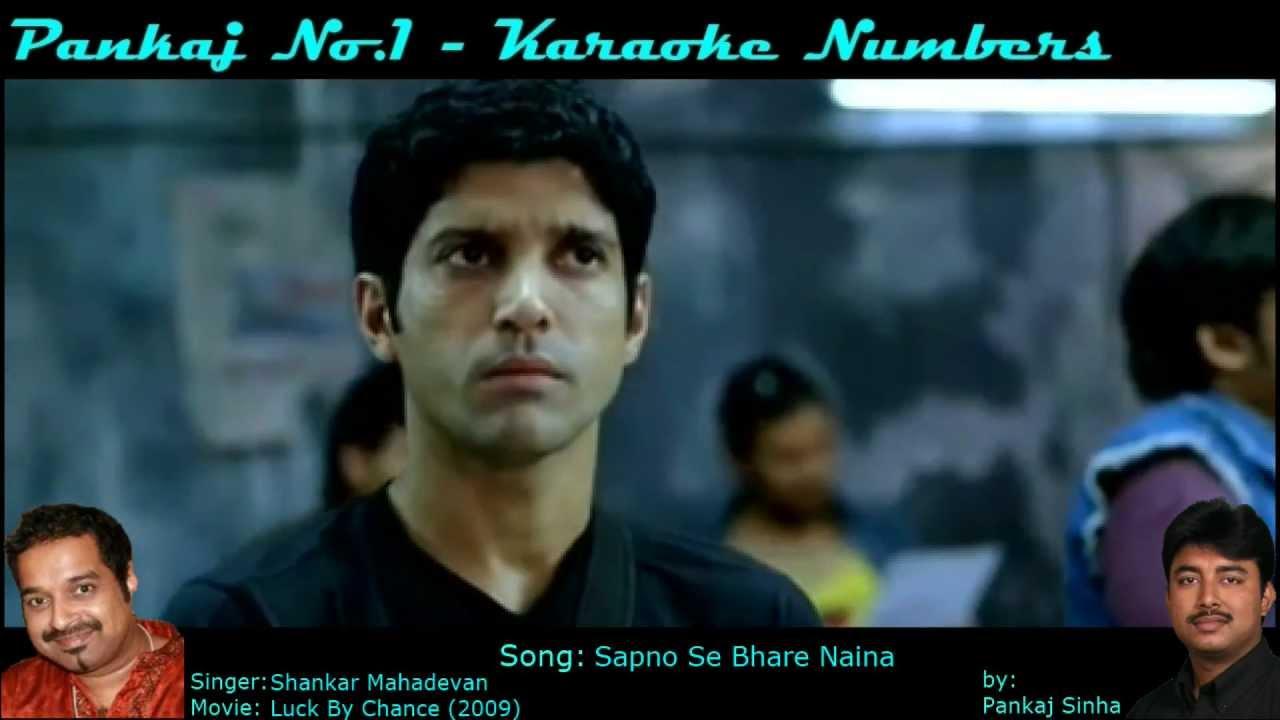 Sapnon se bhare naina karaoke sing along song by pankajno1.