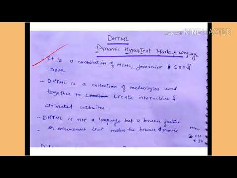DHTML And Difference Between HTML And DHTML - Lecture 80/IWT