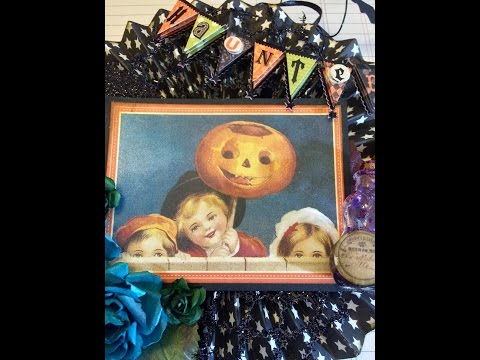 DIY Authentique Halloween Essentials Rosette and Banner