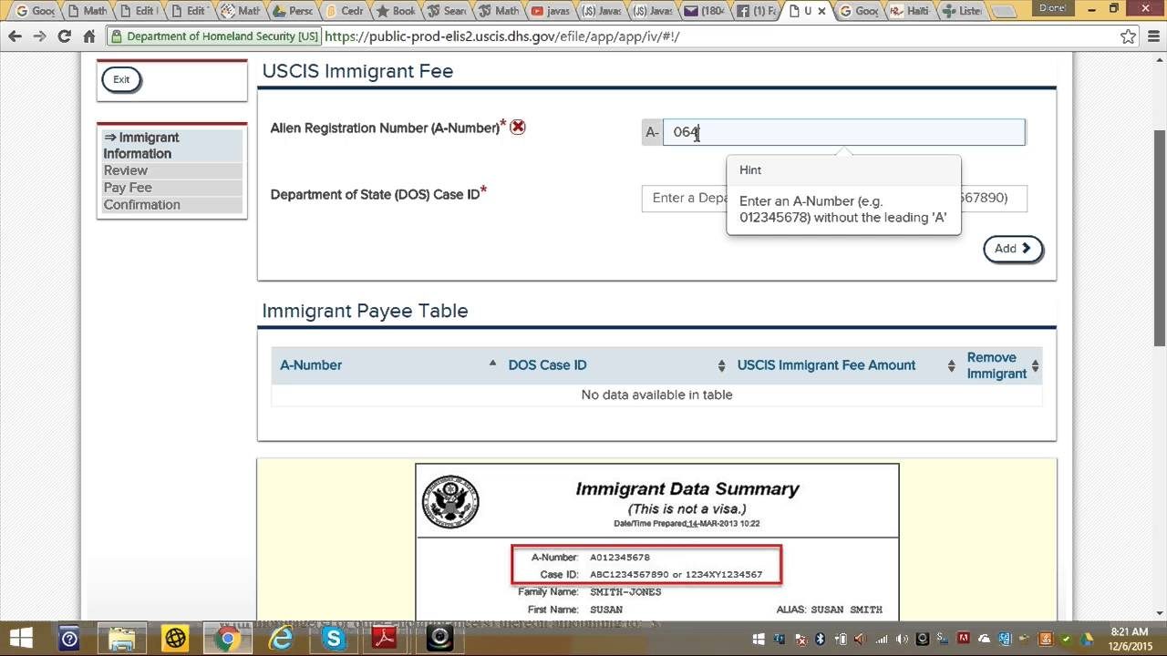 How to pay your immigrant fee update