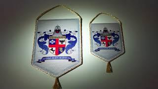 Родовой фамильный герб на вымпеле. Сделано Флаг.ru.