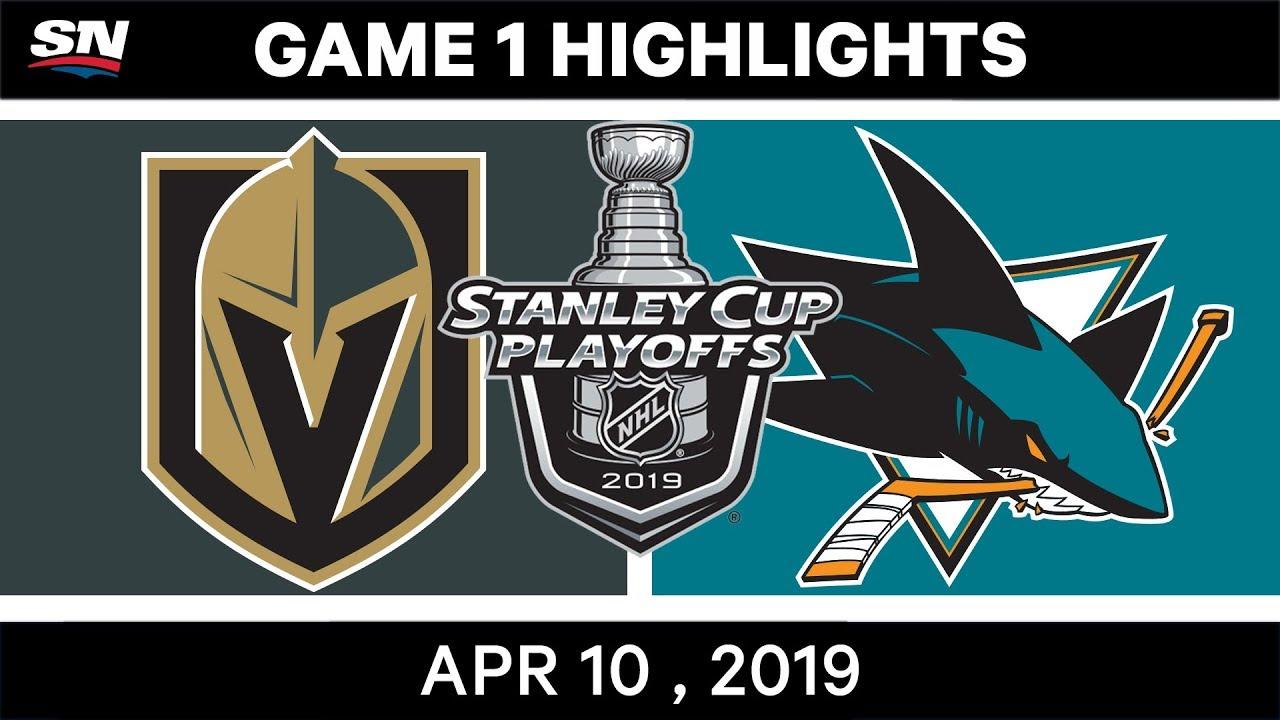 NHL Highlights | Vegas Golden Knights vs San Jose Sharks, Game 1 - April 10, 2019