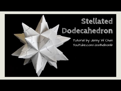 DIY Origami Ball - Christmas Star Ball - Ornament Stellated Icosahedron - Modular Origami