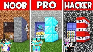Minecraft - NOOB vs PRO vs HACKER : FAMILY SECRET BUNKER in Minecraft Animation