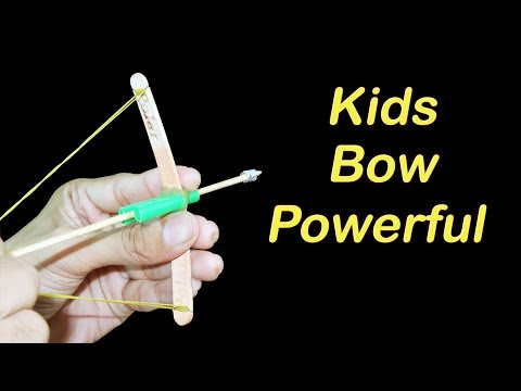 How to make Small Powerful Bow and Arrow For Kids Funny Shoot - Homemade