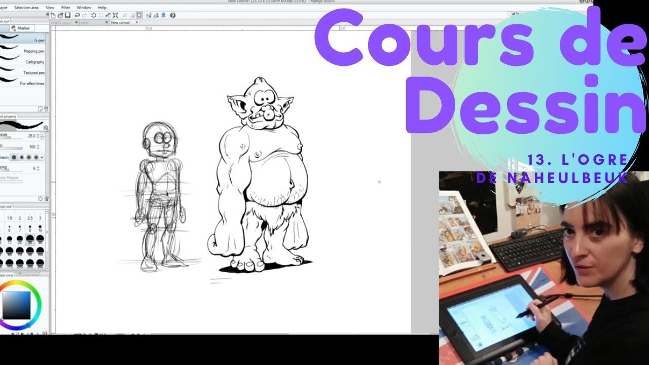 Cours De Dessin 13 L Ogre Du Donjon De Naheulbeuk Youtube