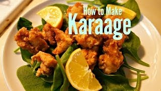 How To Make Karaage Japanese-style Fried Chicken