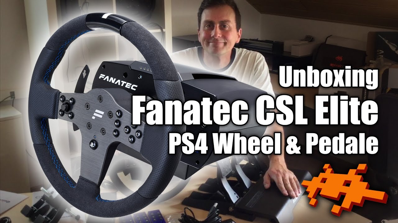 fanatec csl elite wheel pedale unboxing montage ps4. Black Bedroom Furniture Sets. Home Design Ideas