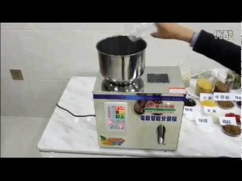 automatic granule powder tea leaves hardware filling manual dosing racking machine