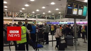 Flights suspended at Gatwick again - BBC News