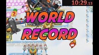 World Record - Snowy Backyard Speed Run - Impoppable