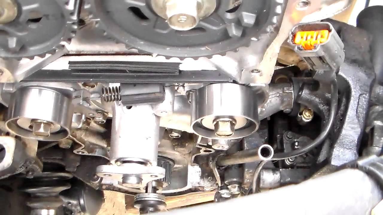 1999-01 Mazda Protege 1.6L timing belt service part 3 of 3 - YouTube
