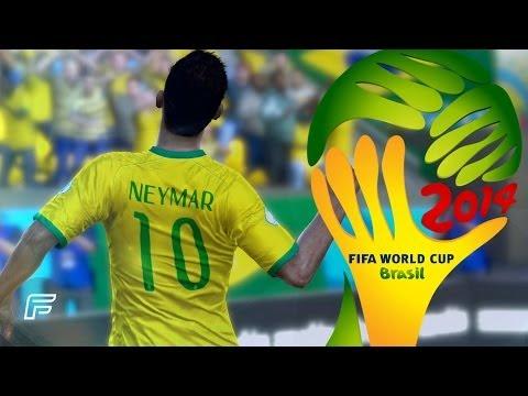 Neymar Jr. - All 4 Goals In 2014 World Cup: Brazil (FIFA Remake)