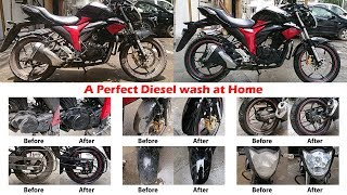 How to diesel wash your bike at Home