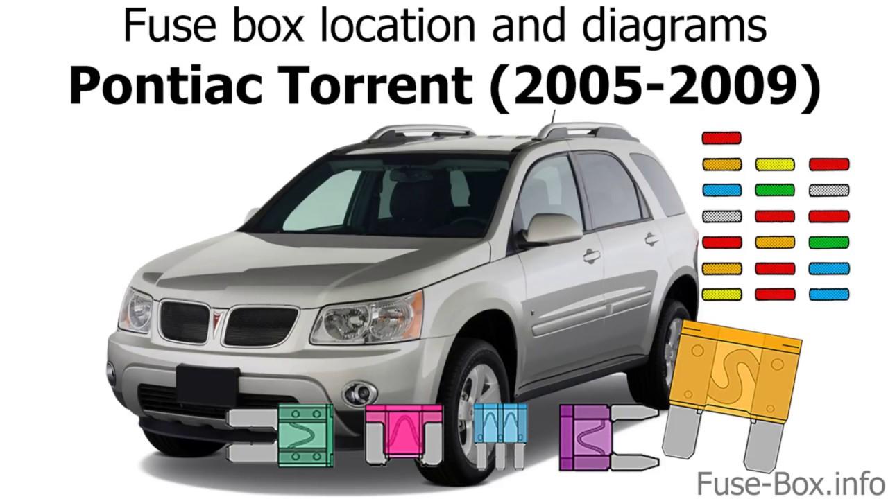 medium resolution of fuse box location and diagrams pontiac torrent 2005 2009