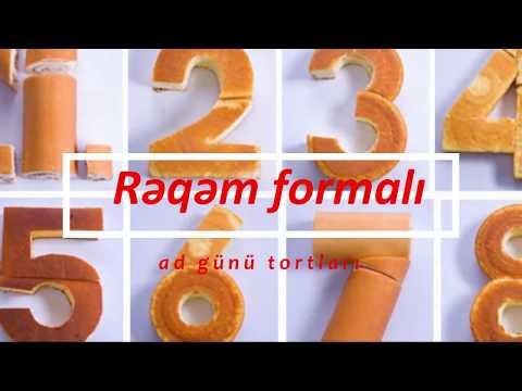Rəqəm formalı ad günü tortları