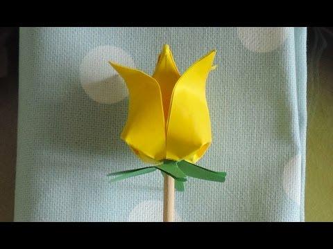 Origami Segnaposto Matrimonio.Segnaposto A Forma Di Tulipano In Origami Tutorial Youtube