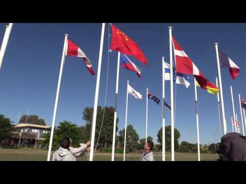 China Flag Raising