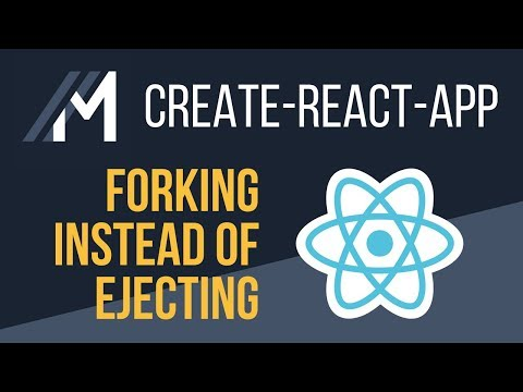 Forking instead of Ejecting a Create React App