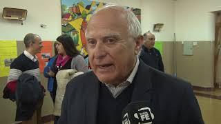 Lifschitz visitó una fábrica y una escuela del departamento Rosario