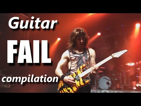 Guitar FAIL compilation ┃RockStar FAIL