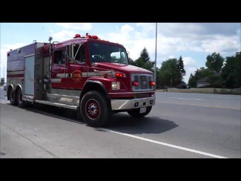 Caledon Fire Tanker 307 Responding