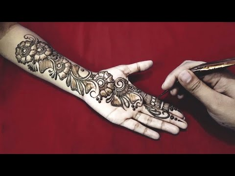 New Easy and Simple Floral Arabic Henna design for hands