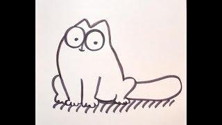 Как нарисовать кота Саймона (Simon's cat). How to draw Simon's cat
