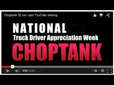 Choptank Transport Salutes Carriers for National Truck Driver Appreciation Week