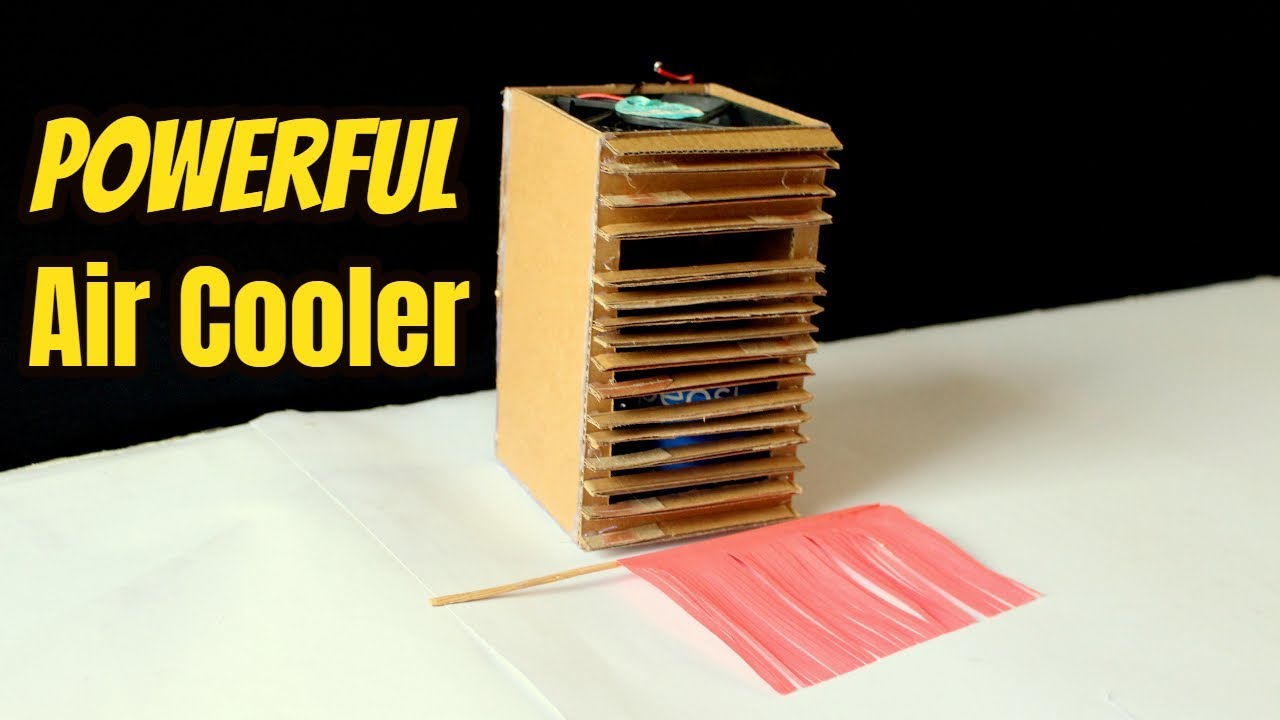 how to make a homemade cooler box cardboard mini air cooler youtube. Black Bedroom Furniture Sets. Home Design Ideas