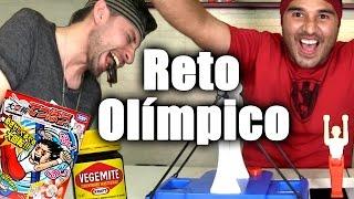 Reto de Gimnasia y Probando Vegemite!!! - ChideeTv