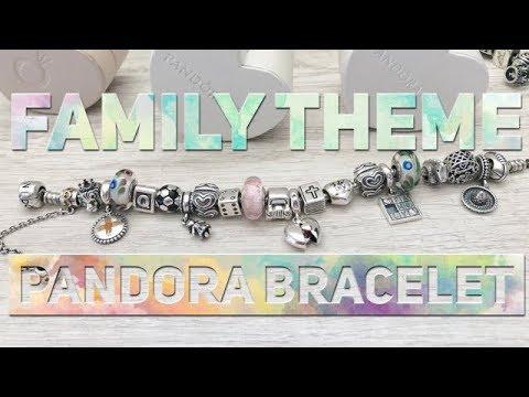 What S On My Pandora Bracelet Family Theme Youtube