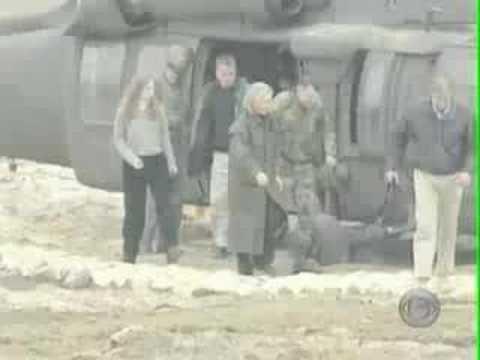Hillary Clinton dodges sniper fire in Bosnia - raw...