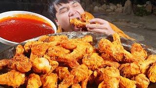 닭다리50개 시골에서 직접 만들어서 먹어보겠습니다! 시…