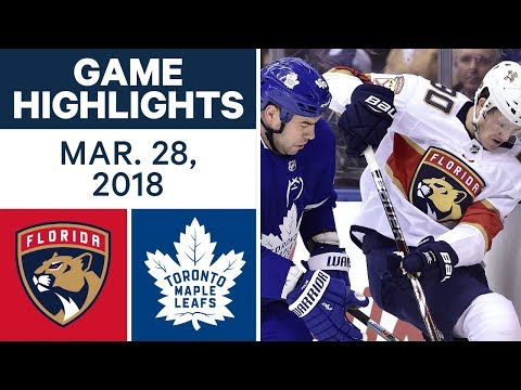 NHL Game Highlights | Panthers vs. Maple Leafs - Mar. 28, 2018