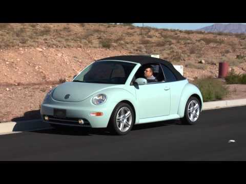 2004 Volkswagen Beetle GLS Turbo Convertible test drive Viva Las Vegas Autos