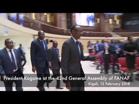 President Kagame at the 42nd General Assembly of the FANAF