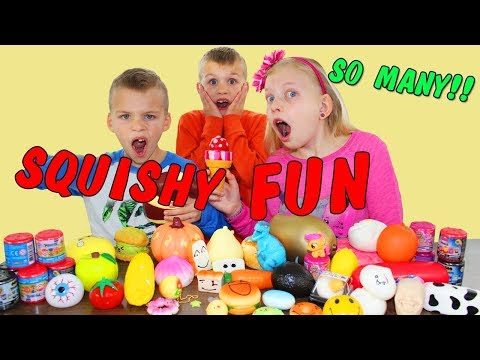 Cutting Open Our Squishy Collection    Opening Surprise Squishy Toys