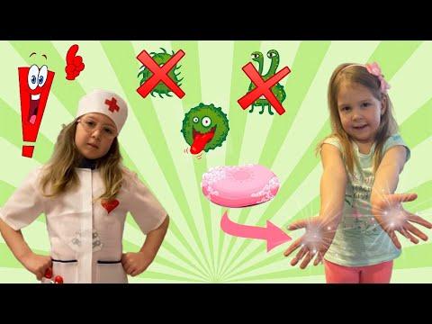 Полина и Эмилия о том как важно мыть руки!