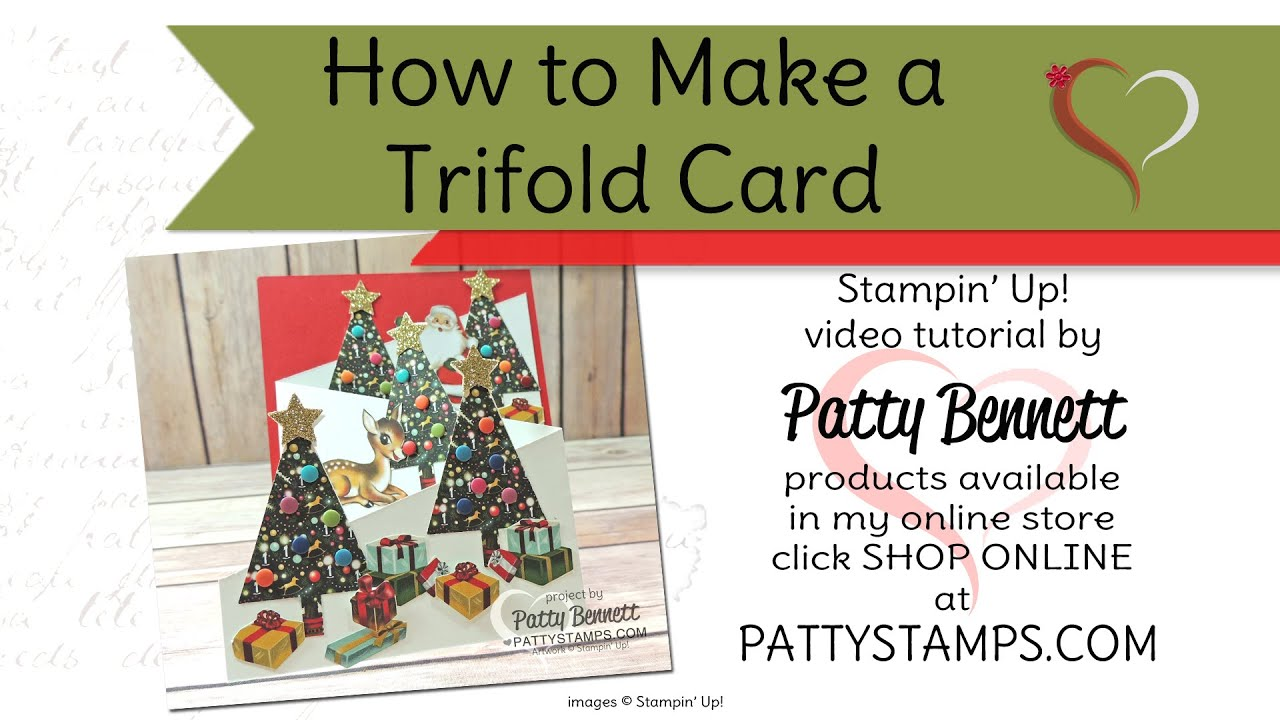 How to make tri fold cards with stampin 39 up home for for How to make folded christmas cards