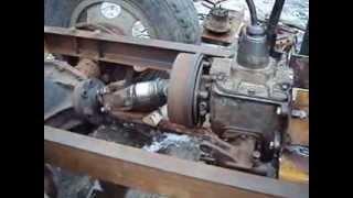 самодельный трактор,испытание трансмиссии